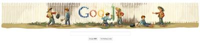 Google マーク・トウェイン生誕176周年