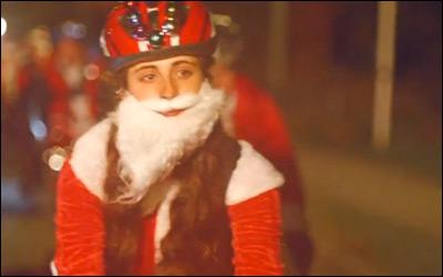 McDonald's Cycling Santas Festive