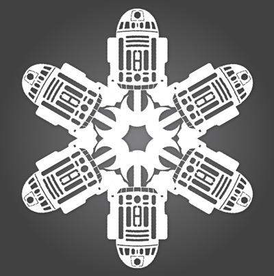 DIY Star Wars Snowflakes