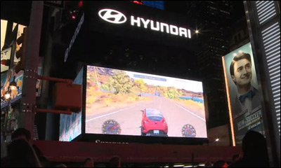 Hyundai Race game in New York Times Square