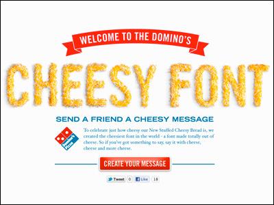 Cheesy Font | More Domino's