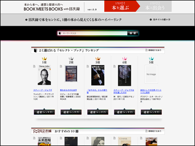 BOOK MEETS BOOKS with 目次録 [ 本から本へ、連想と探索の次へ ]