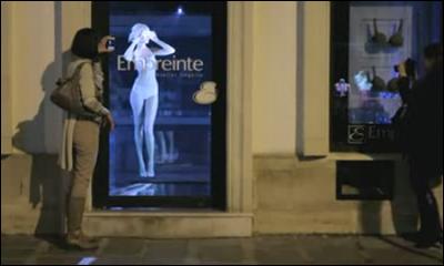 Hologramme Empreinte, l'Atelier lingerie -- Paris