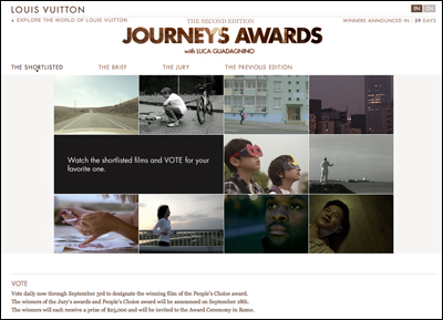 Louis Vuitton - Journeys Awards - With Luca Guadagnino