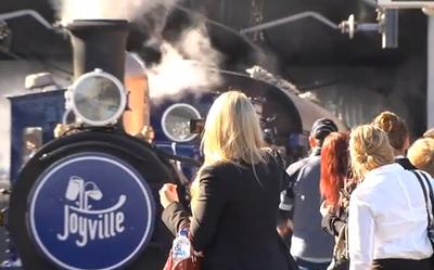 The Cadbury Joyville Train arrives in Sydney