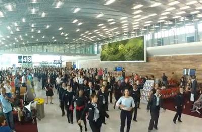 Flash mob Air France