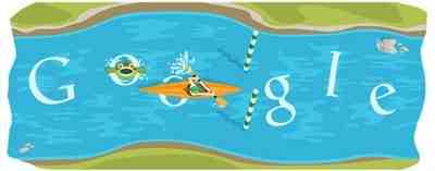 Google カヌーのロゴでゲームができる!(ロンドンオリンピック2012)