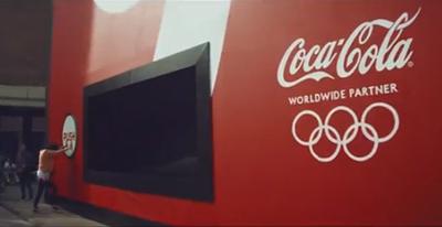 Celebrate London 2012 with Coca-Cola's biggest vending machine