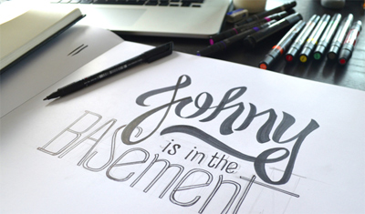 Bob Dylan Subterranean Homesick Blues - A HAND LETTERING EXPERIENCE