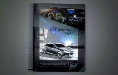 Lexus brings a Magazine to Life with CinePrint