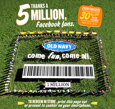 Old Navy Presents: A Big Deal for our 5 Million Fans