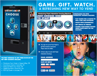 Pepsi Interactive Vending - Welcome to the Future of Vending