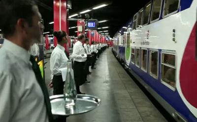 Thierry Marx à bord du Badoit Express
