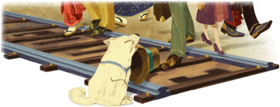 Google 渋谷駅でご主人様を待ちつづけた忠犬ハチ公生誕90周年かとおもいきや89周年