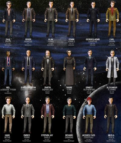 Heroes of Science Action Figures
