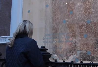 Christmas Window Installation - The Mill's Wish Machine