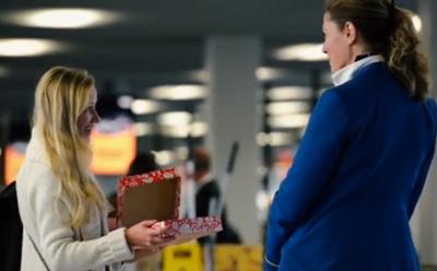 KLM Happy Holidays flight