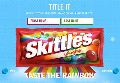 Skittles Create the Rainbow