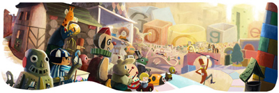 Google 2012 ホリデーシーズンロゴ 1日目