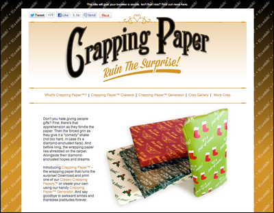 Crapping Paper