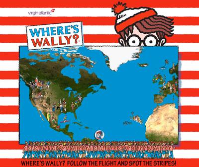 Virgin Atlantic ask Where's Wally?
