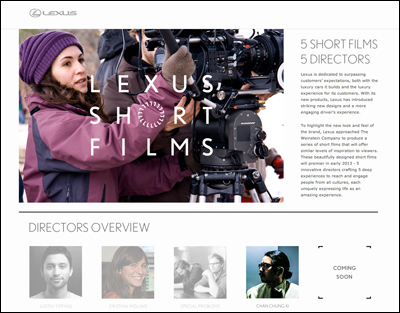 LEXUS GLOBAL WEBSITE - LEXUS SHORT FILMS