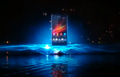 Sony Xperia water projection mapping