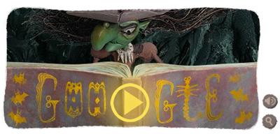Google 10月31日はハッピーハロウィン!魔女が煮込む液体に2つのアイテムを入れると6つのミニゲームを楽しめるDoodleに!