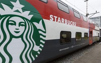 Starbucks on a Train with SBB