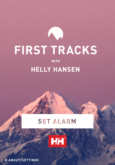First Tracks with Helly Hansen