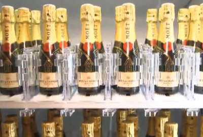 The World's Only Champagne Vending Machine