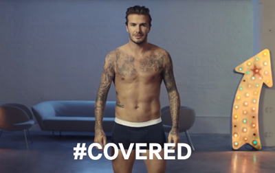 H& M David Beckham Superbowl Covered or Uncovered