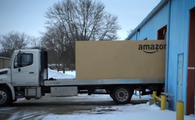 What's in the giant Amazon box?