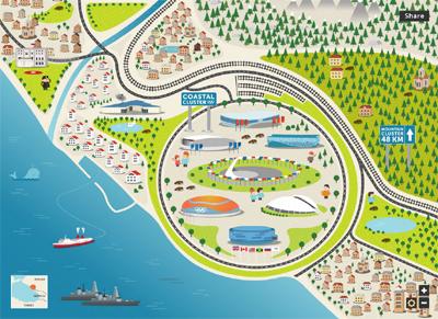 Sochi 2014 Interactive Map