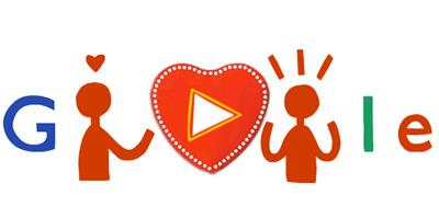 Google ハッピーバレンタイン!3つのチョコレートを作って誰かに送れるロゴに!