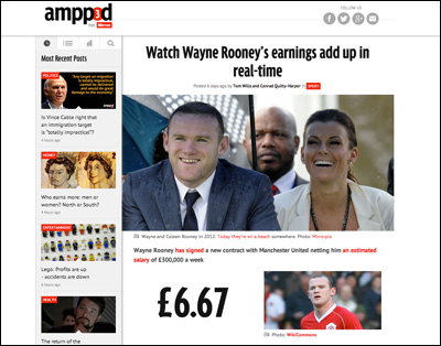 Watch Wayne Rooney's earnings add up in real-time