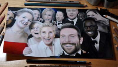 Drawing The Oscars 2014 Selfie