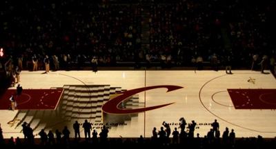 Cleveland Cavaliers PreGame Court Projection