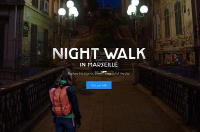 Google Night Walk in Marseille
