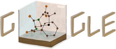 Google イギリスの化学者ドロシー・ホジキン生誕104周年のロゴに!