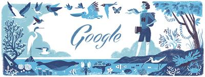 Google アメリカの生物学者で『沈黙の春』の著者レイチェル・カーソン生誕107周年ロゴに!