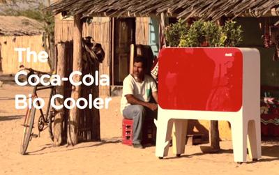 The Coca-Cola Bio cooler