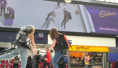 Cadbury Waterloo Station Digital Screen