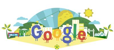 Google いよいよ始まるFIFAワールドカップ2014 ブラジル大会を記念したアニメーションロゴに!