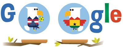 Google FIFAワールドカップ アメリカ ガーナ