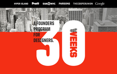 30 Weeks: A founders program for designers