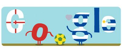 Google FIFAワールドカップ ウルグアイ イングランド