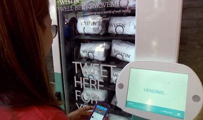 Twitter-Activated Vending Machine