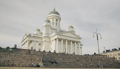 Helsinki - Finnish capital with midnight sun  Finnair