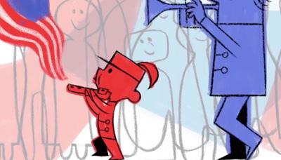 Google 7月4日のアメリカ独立記念日に、マーチングバンドの少年を描くアニメーションロゴに!
